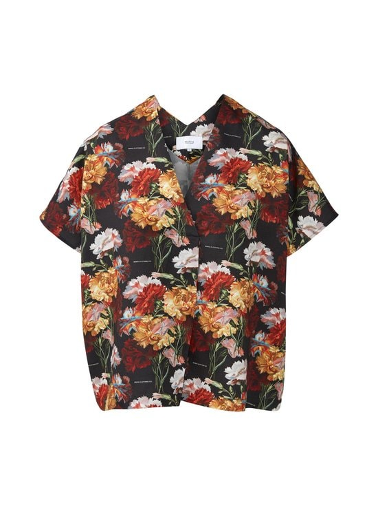 Makia - Makia x Von Wright Flowers Kaftan Shirt -paita - BLACK | Stockmann - photo 1