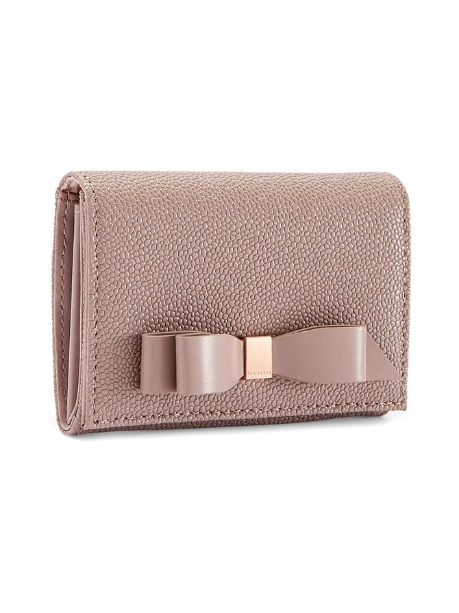 Leonyy Bow Flap Mini Leather Purse -nahkalompakko