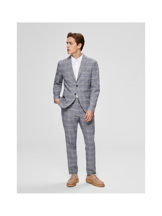 Selected - SlhSlim-Will -bleiseri - DARK BLUE CHECKS:BLUE/SAND | Stockmann - photo 4