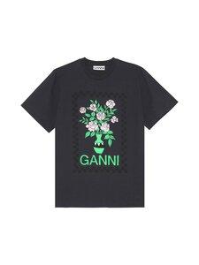 Ganni - Basic Cotton Jersey -paita - 252 PHANTOM | Stockmann