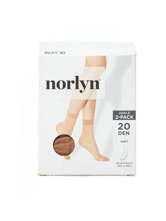 Norlyn - Silky 3D 20 den -nilkkasukat 2-pack - POWDER | Stockmann - photo 1