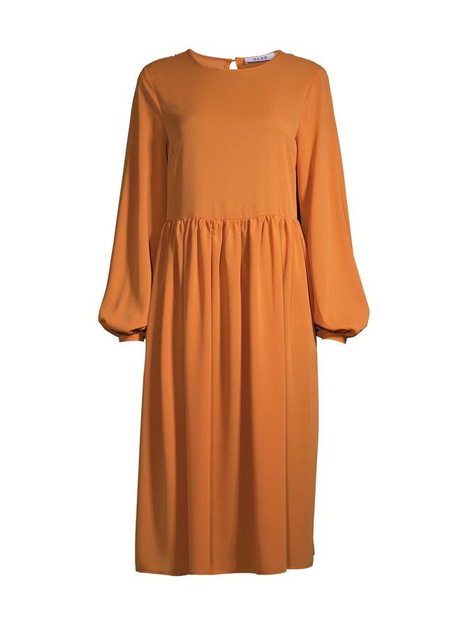 Pleat Skirt Chiffon Dress -mekko