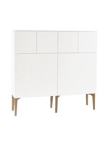 Lundia - Fuuga-senkki 35 x 124 x 128 cm - VALKOINEN/TAMMI | Stockmann
