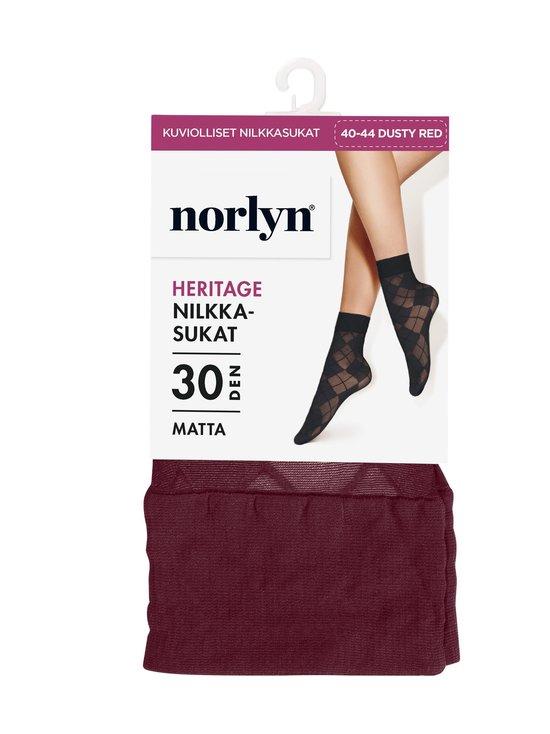 Norlyn - Heritage 30 den -nilkkasukat - 7077 DUSTY RED | Stockmann - photo 1