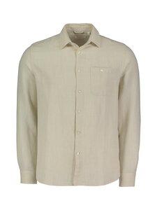 Knowledge Cotton Apparel - LARCH LS GOTS/Vegan -pellavapaita - 1228 LIGHT FEATHER GRAY   Stockmann