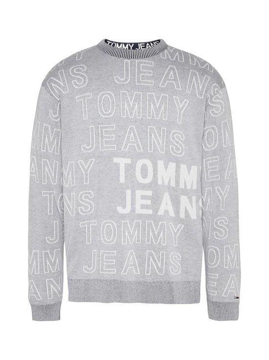 Tommy Jeans - Tjm Allover Logo -puuvillaneule - P01 LT GREY HTR | Stockmann - photo 1