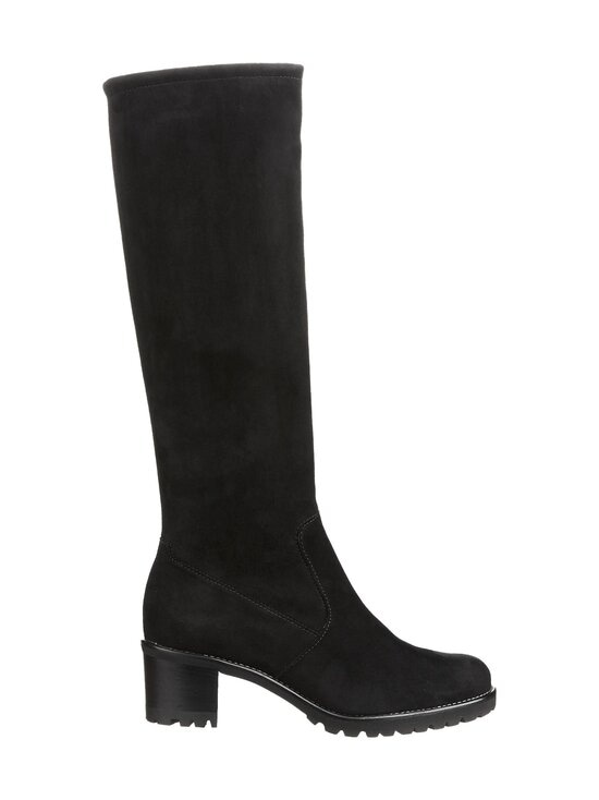 PETER KAISER - Dana Knee High Stretch Suede -mokkanahkasaappaat - BLACK | Stockmann - photo 1