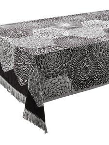 Lapuan Kankurit - Ruut-pöytäliina/peitto 140 x 240 cm - MUSTA/VALKOINEN | Stockmann