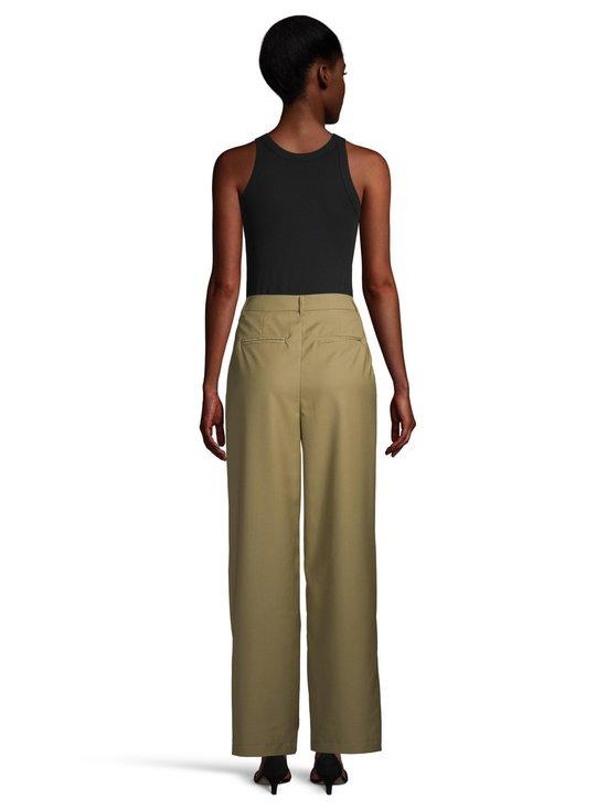 NA-KD - Pleat Detail Suit Pants -housut - OLIVE GREEN | Stockmann - photo 3