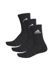 adidas Performance - Cushioned Crew -sukat 3-pack - BLACK/BLAC BLACK/BLACK/WHITE | Stockmann