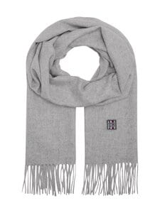 Tommy Hilfiger - TH Plaque -kashmirhuivi - 0IX LIGHT GREY MELANGE | Stockmann
