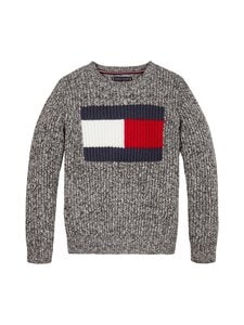 Tommy Hilfiger - Flag Logo Sweater -neule - BDS BLACK | Stockmann