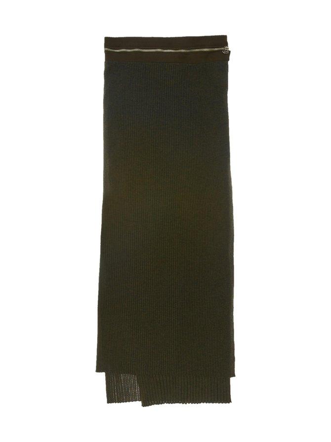 Layered Wool Skirt -neulehame