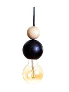 QUU Design - Medium BN -riippuvalaisin 9,5 x 15,5 cm - BLACK/NATURAL | Stockmann