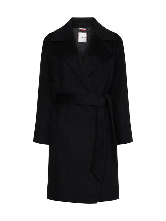 Tommy Hilfiger - Belted Coat -villakangastakki - BDS BLACK   Stockmann - photo 1