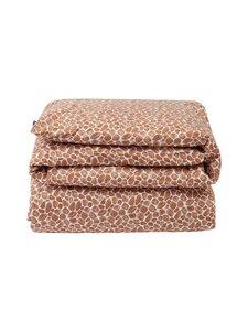 Lexington - Printed Giraffe organic cotton sateen duvet cover -pussilakana - 1621 DK BEIGE/WHITE | Stockmann