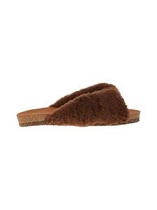 Flattered - Lou teddy -sandaalit - 006 DARK BROWN   Stockmann