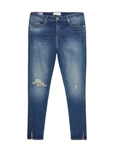 Calvin Klein Jeans Plus - High Rise Skinny Ankle -farkut - 1A4 BB233- MID BLUE DSTR TWIST HEM   Stockmann
