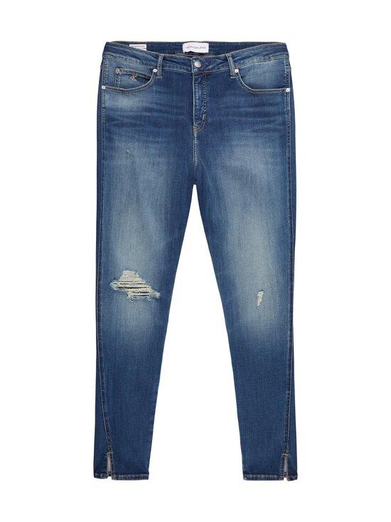 Calvin Klein Jeans Plus - High Rise Skinny Ankle -farkut - 1A4 BB233- MID BLUE DSTR TWIST HEM | Stockmann - photo 1