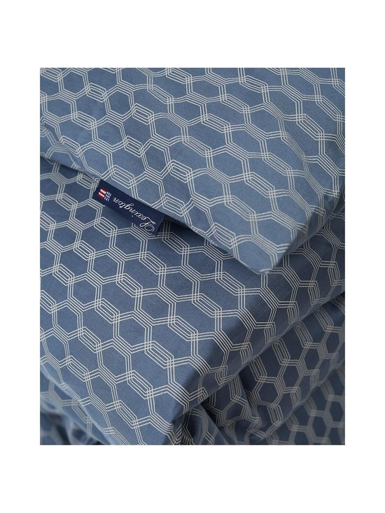 Lexington - Printed Cotton Sateen -pussilakana - STEEL BLUE/OFF WHITE | Stockmann - photo 2