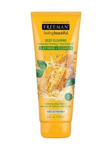 Freeman - Deep Clearing Clay Mask + Scrub Manuka Honey & Tea Tree Oil -kasvonaamio 175 ml - null | Stockmann