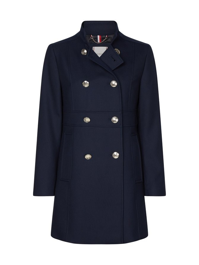 Double Breasted Slim Fit Coat -takki