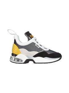 Karl Lagerfeld - Ventura Lazare Mid II Chunky -sneakerit - 47E DK GREY LTHR & TEXT W/YELLOW | Stockmann