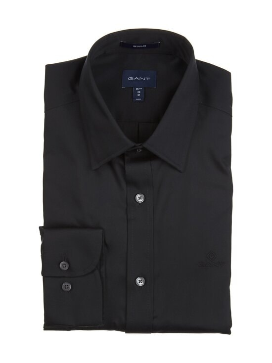 GANT - The Sateen Regular fit -kauluspaita - 5 BLACK | Stockmann - photo 1