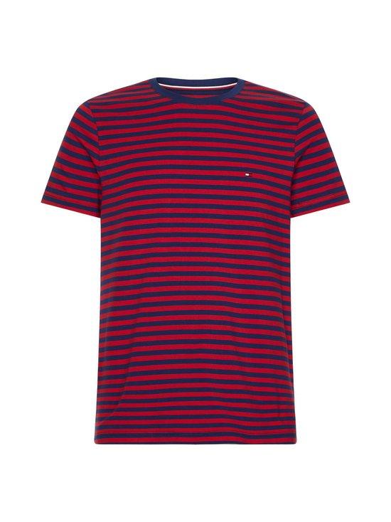 Tommy Hilfiger - Stretch Cotton Slim Fit -paita - 0EV BUE INK/PRIMARY RED | Stockmann - photo 1