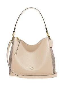Coach - Signature Jacquard Shay Shoulder Bag -laukku - B4/STONE IVORY | Stockmann