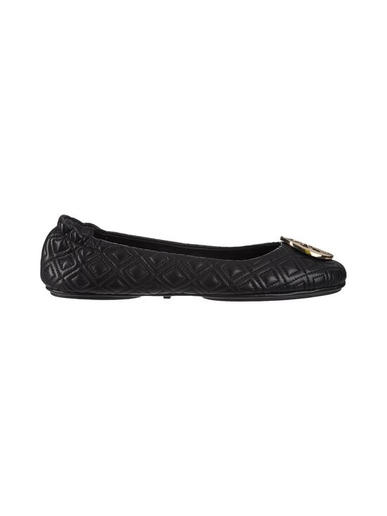 Tory Burch - Quilted Minnie With Metal Logo -nahkaballerinat - 002 PERFECT BLACK / GOLD | Stockmann - photo 1