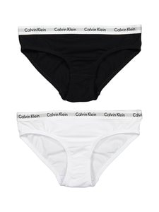 Calvin Klein Kids - Modern Cotton -alushousut 2-pack - WHITE/BLACK | Stockmann