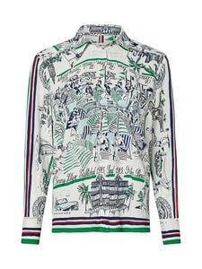 Tommy Hilfiger - SILK RELAXED BLOUSE -silkkipusero - 02M FLORIDA SCARF PRT / PRIMARY GREEN | Stockmann