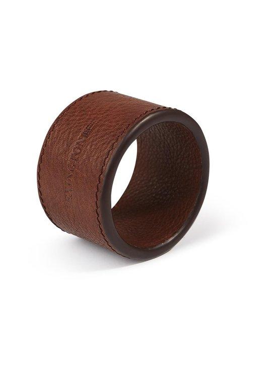 Lexington - Leather Napkin Ring -lautasliinarengas - BROWN | Stockmann - photo 1
