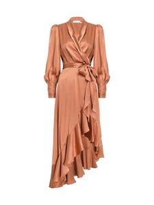Zimmermann - Silk Wrap Midi Dress -silkkimekko - BISCUIT BIS | Stockmann