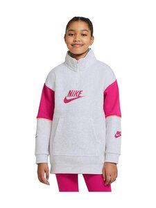 Nike - Half zip fashion -collegetakki - BIRCH HEATHER/FIREBERRY/FIREBERRY | Stockmann