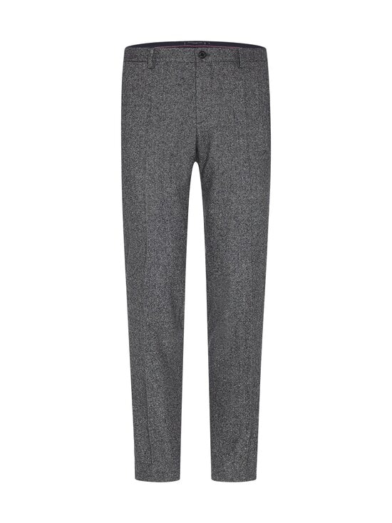 Tommy Hilfiger Tailored - TH Flex Flecked Slim Fit -housut - 0GU BLACK/ECRU MELANGE | Stockmann - photo 1