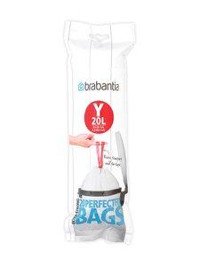 Brabantia - PerfectFit Y -roskapussit 20 l, 20 kpl - WHITE (VALKOINEN) | Stockmann