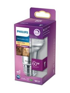Philips - LED 60W E27 Warm White Dimming -heijastinlamppu - WHITE | Stockmann