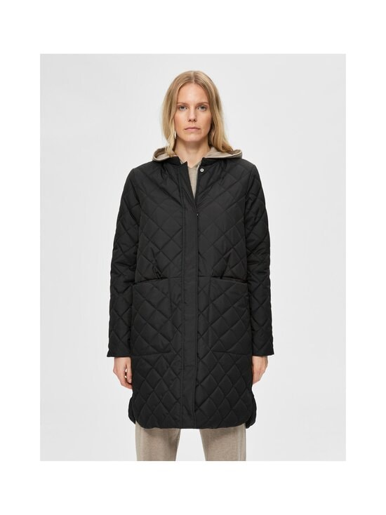 Selected - SlfFillipa Quilted Coat -takki - BLACK | Stockmann - photo 3