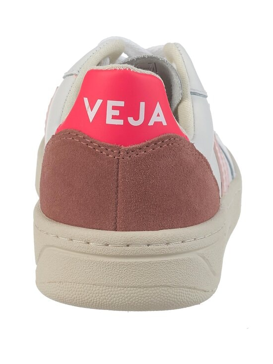 VEJA - V-10 Leather -nahkatennarit - EXTRA-WHITE_PETALE_ROSE-FLUO | Stockmann - photo 4