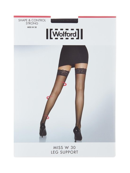Wolford - Miss W Leg Support -stay-up-sukat 30 den - BLACK   Stockmann - photo 1