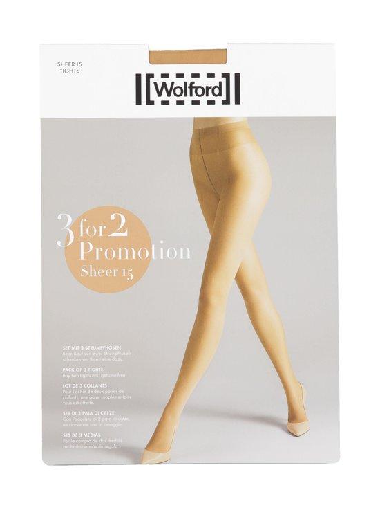 Wolford - Sheer 15 den -sukkahousut 3-pack - 4365 GOBI | Stockmann - photo 1
