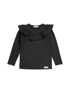 MarMar Copenhagen - Tessie LS Frilla -paita - 0654 BLACK | Stockmann