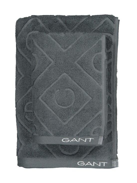 Gant Home - Organic G -pyyhe 70 x 140 cm - 162 ANTRACITE | Stockmann - photo 1