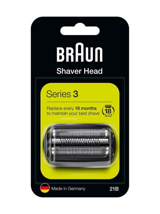 Braun - Series 3 21B -parranajokoneen teräverkko ja terät - BLACK   Stockmann - photo 1
