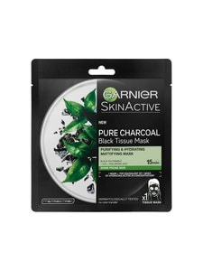 Garnier - Skin Active Black Tissue Pure Charcoal Black Tea -kasvonaamio 32 g - null | Stockmann