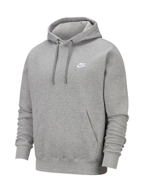 Nike - Sportswear Club Fleece -huppari - DARK GREY HEATHER/MATTE SILVER   Stockmann - photo 1