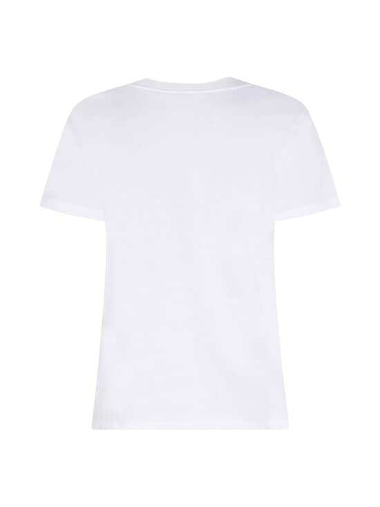 Tommy Hilfiger - Regular Crew Neck Flock Tee -paita - YBR WHITE | Stockmann - photo 2