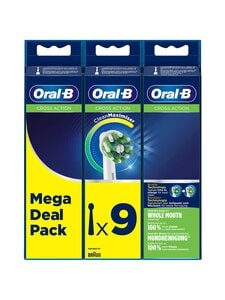 Oral-B - Cross Action -harjaspää 9 kpl - WHITE | Stockmann